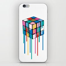 Drippy Feelings Rainbow Rubiks Cube iPhone Skin