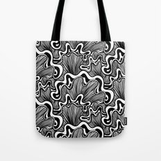 Black and white organic striped shapes Tote Bag