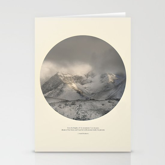 love the mountains... Stationery Cards