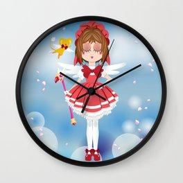 Mini Me Stars: Red Sakura Wall Clock