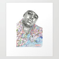 biggie smalls Art Prints featuring Biggie Smalls by Jacob Everett