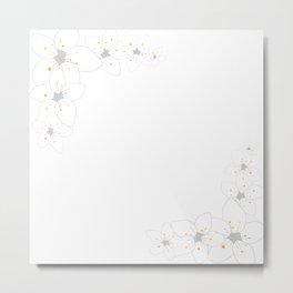 White sakura flowers Metal Print