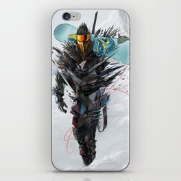 Ninja mode snowboaring iPhone Skin