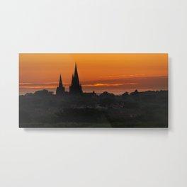 Sunrise Lichfield Metal Print