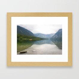 Kayaking on Lake Bohinj Framed Art Print