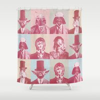 c3po Shower Curtains featuring Pop Wars by NJ-Illustrations