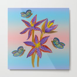 Queen of Sheba Orchids  Metal Print