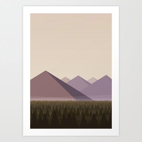 Twin Peaks - James' Valley View Art Print