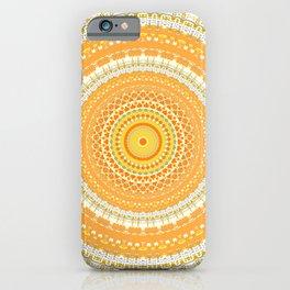 Marigold Orange Mandala Design iPhone Case