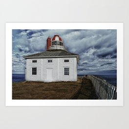 Lighthouse in Newfoundland, Canada Art Print