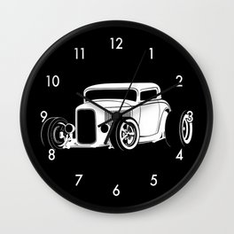 Vintage American Hot Rod Wall Clock