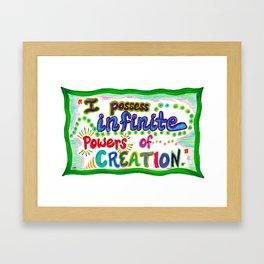 POWERS OF CREATION Framed Art Print