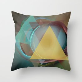 Modern colourful abstract with triangles Throw Pillow