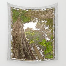 STOUT GROVE REDWOODS 3 LOOKING UP INTO THE TREES Wall Tapestry