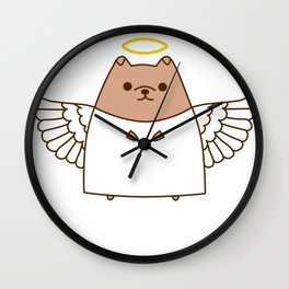 Cute Christmas Angel Pupsheen Wall Clock