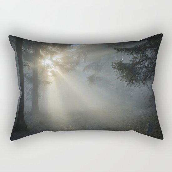Winter Sunrise in the Forest Rectangular Pillow