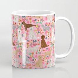 Golden Doodle dog breed must have dog art pet portrait animal fur baby illustration florals dog gift Coffee Mug