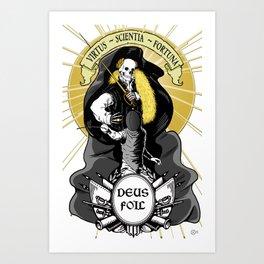 Deus Foil Art Print