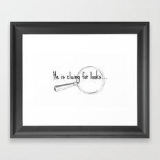 He's cluing for looks... Drunk Sherlock Framed Art Print