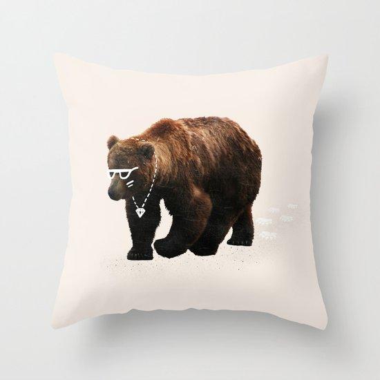 Kodiak Arrest Throw Pillow