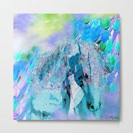 HORSE RAINBOW PARADISE Metal Print