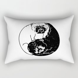 The Tao of English Bulldog Rectangular Pillow