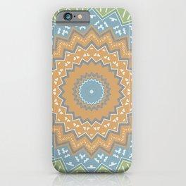 Mint Tribal Mandala iPhone Case