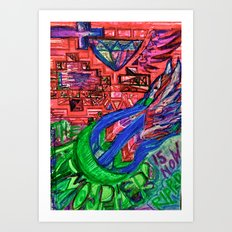 the atmosphere is now ripped Art Print