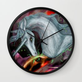 Otherworld Unicorns 10: The Unicorn of Peace Wall Clock