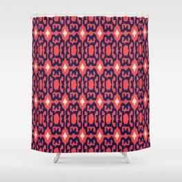 esperanza - minimal - coral + navy Shower Curtain