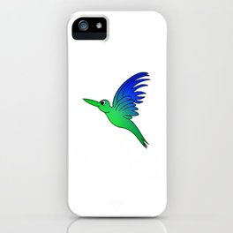 childishly Hand drawn bird in a stained glass look iPhone Case
