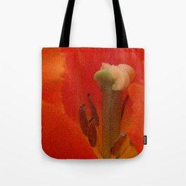 Inside and orange tulip Tote Bag