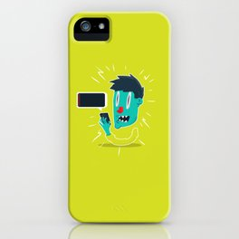 out of battery iPhone Case