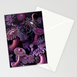 Actiniae in Purple Stationery Cards