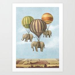 Flight of The Elephants - colour option Art Print