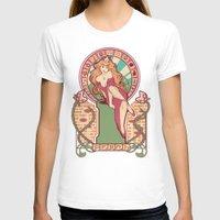 nouveau T-shirts featuring Peach Nouveau by Megan Lara