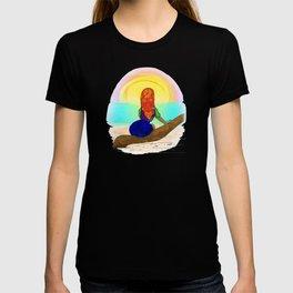 Kuna girl watching the sunset T-shirt