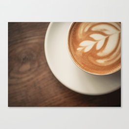Warm artisanal Cappuccino for a Morning Sunday breakfast Canvas Print