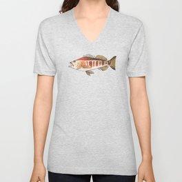 Blacktail Comber: Fish of Portugal Unisex V-Neck