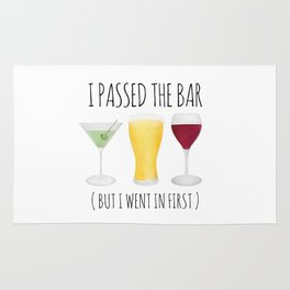 I Passed The Bar (But I Went In First) Rug