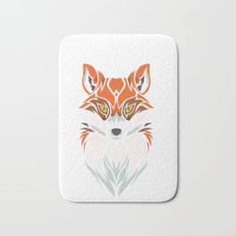 Tribal Fox - Wild Animal Art - Exotic Animals Bath Mat