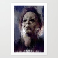 michael myers Art Prints featuring Michael Myers by 炎リュウ