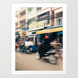 phnom penh in motion 2 Art Print