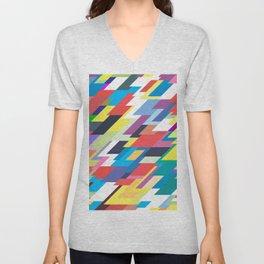 Layers Triangle Geometric Pattern Unisex V-Neck