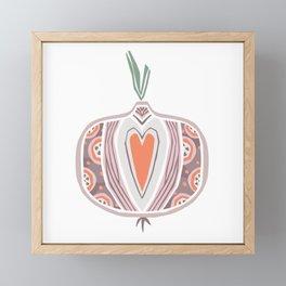 Onion Framed Mini Art Print