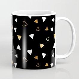 Multi Triangles - Black Coffee Mug
