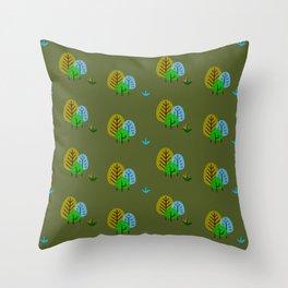Trees pattern Throw Pillow