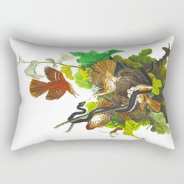 Ferruginous Thrush Bird Rectangular Pillow