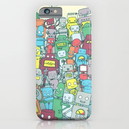 Robot Party iPhone Case
