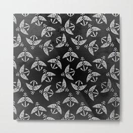 White Flying Anchors Metal Print